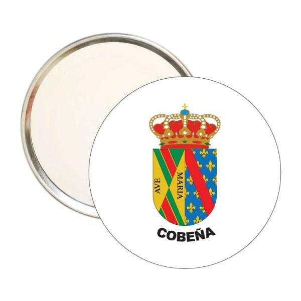 1572 espejo redondo escudo heraldico cobeña
