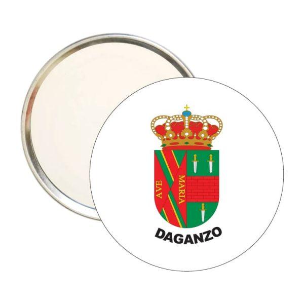 1573 espejo redondo escudo heraldico daganzo