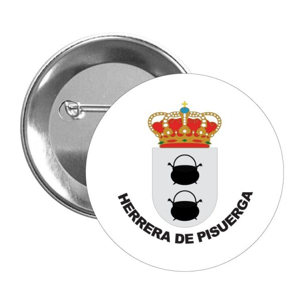 1578 chapa escudo heraldico herrera de pisuerga