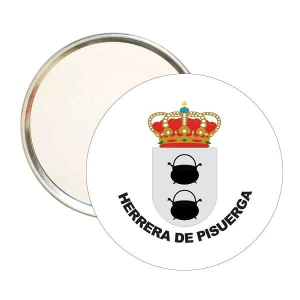 1578 espejo redondo escudo heraldico herrera de pisuerga