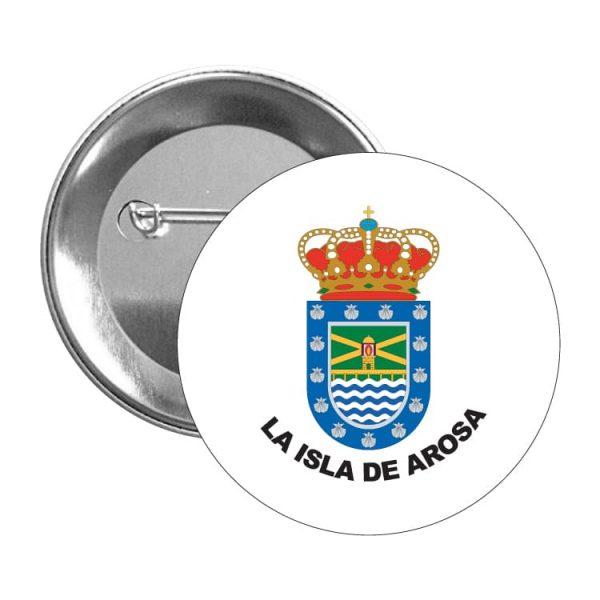1581 chapa escudo heraldico la isla de arosa