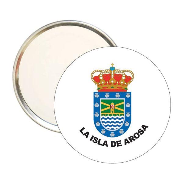 1581 espejo redondo escudo heraldico la isla de arosa