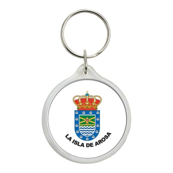 1581 llavero redondo escudo heraldico la isla de arosa