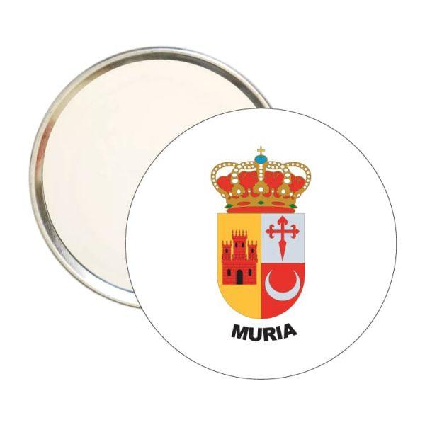 1586 espejo redondo escudo heraldico muria