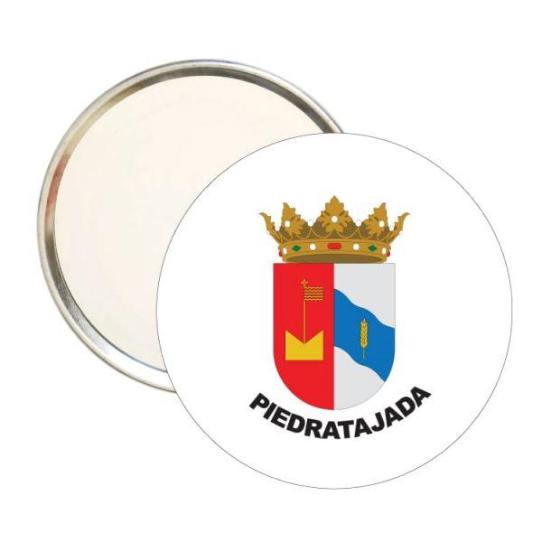 1587 espejo redondo escudo heraldico piedratajada