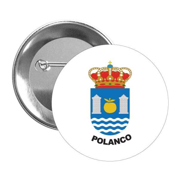 1588 chapa escudo heraldico polanco