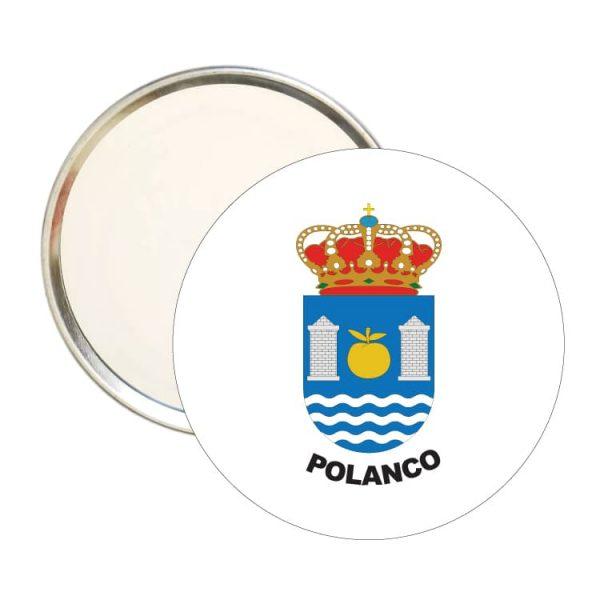 1588 espejo redondo escudo heraldico polanco