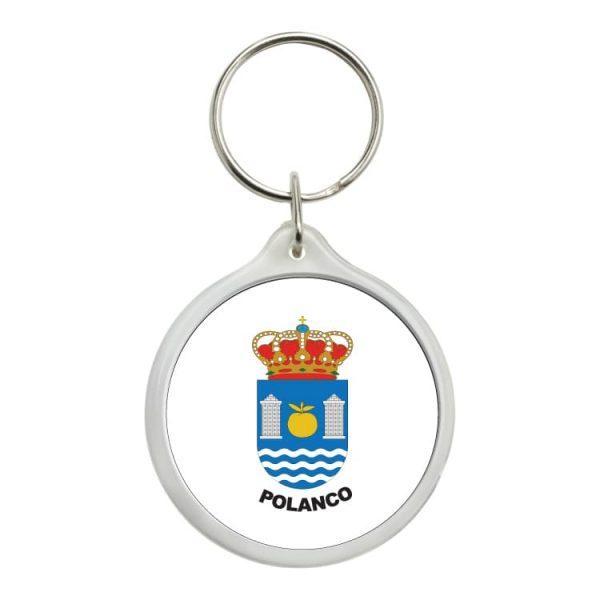 1588 llavero redondo escudo heraldico polanco