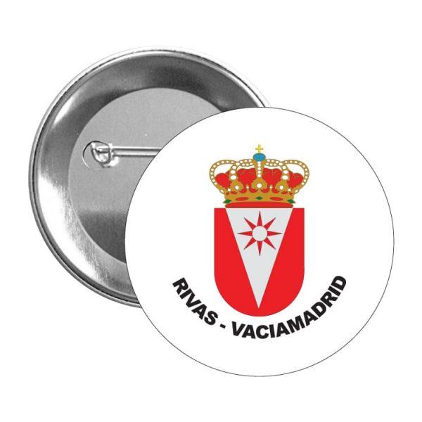1590 chapa escudo heraldico rivas vaciamadrid