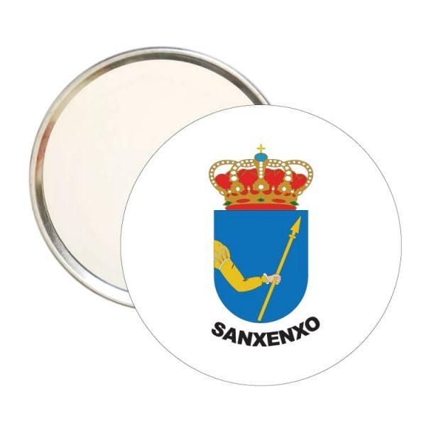 1592 espejo redondo escudo heraldico sanxenxo