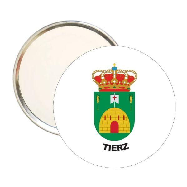 1593 espejo redondo escudo heraldico tierz