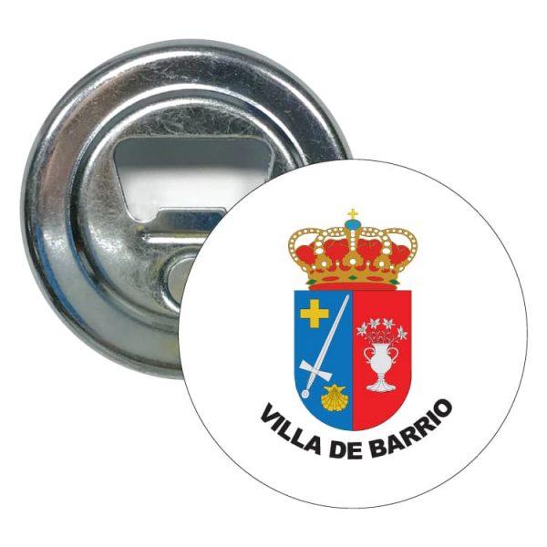 1598 abridor redondo escudo heraldico villa de barrio