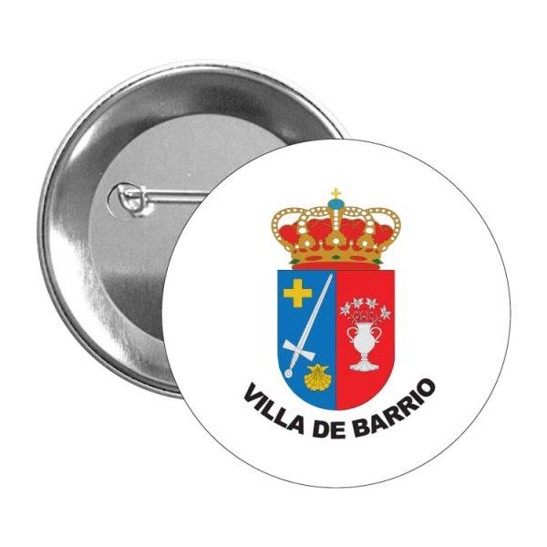 1598 chapa escudo heraldico villa de barrio