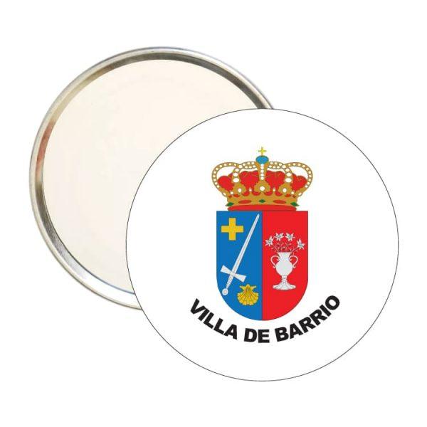 1598 espejo redondo escudo heraldico villa de barrio
