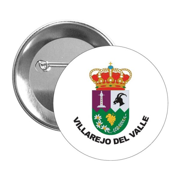 1600 chapa escudo heraldico villarejo del valle