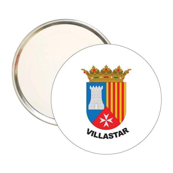 1601 espejo redondo escudo heraldico villastar