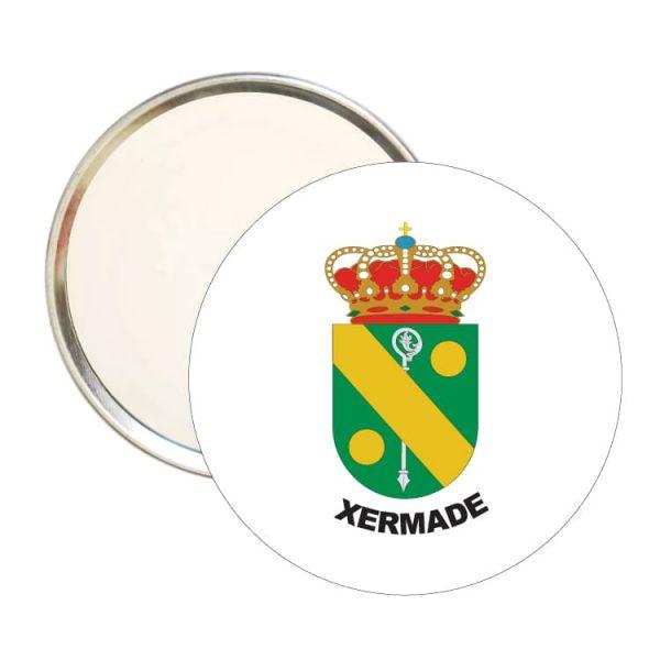 1602 espejo redondo escudo heraldico xermade