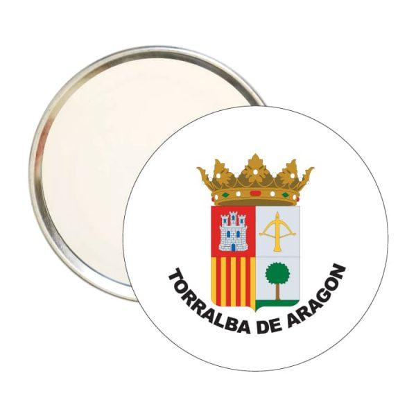 1605 espejo redondo escudo heraldico torralba de aragon