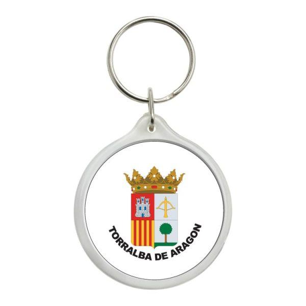 1605 llavero redondo escudo heraldico torralba de aragon