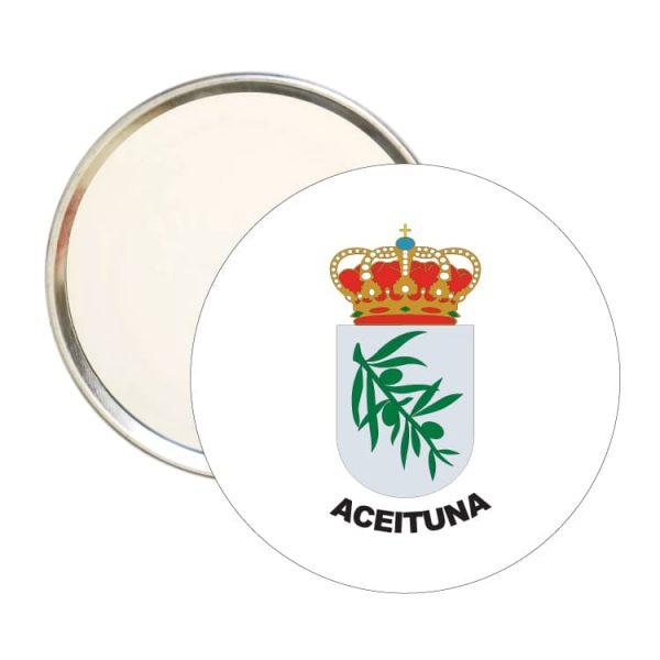 1607 espejo redondo escudo heraldico aceituna