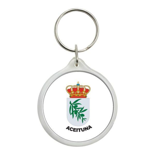 1607 llavero redondo escudo heraldico aceituna