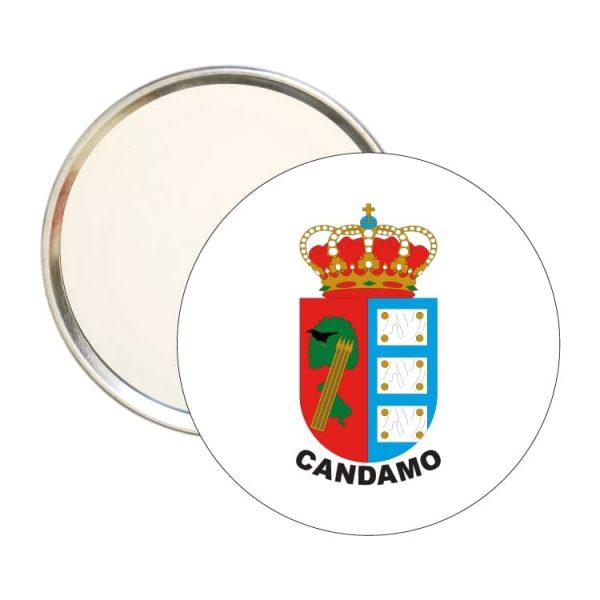 1608 espejo redondo escudo heraldico candamo