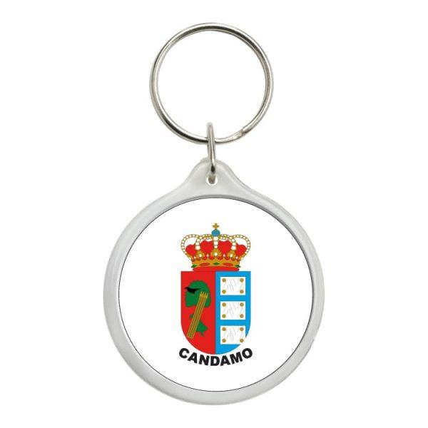 1608 llavero redondo escudo heraldico candamo