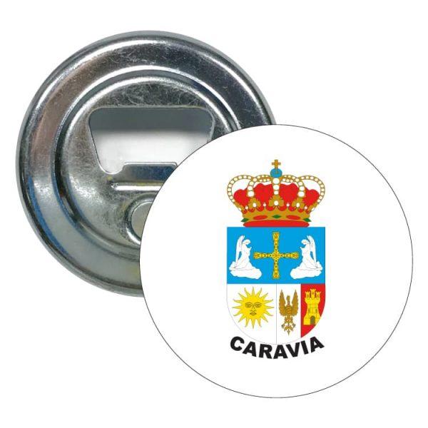 1609 abridor redondo escudo heraldico caravia