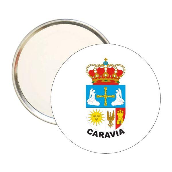 1609 espejo redondo escudo heraldico caravia