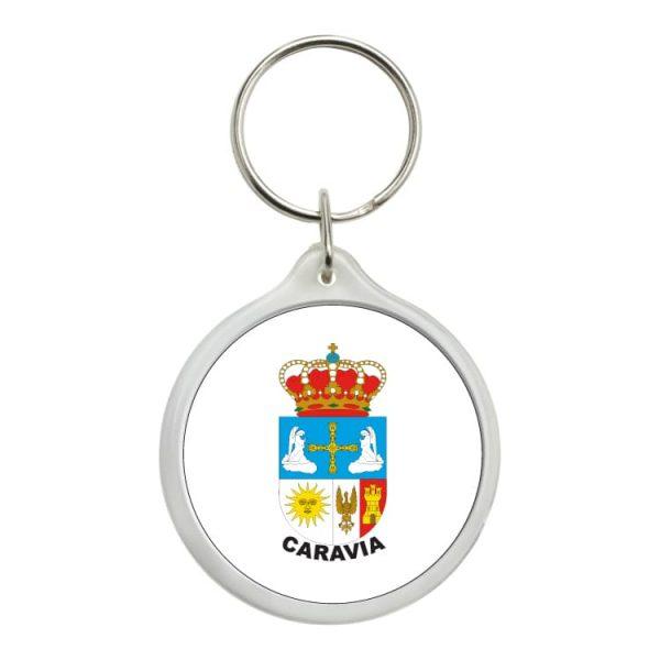1609 llavero redondo escudo heraldico caravia