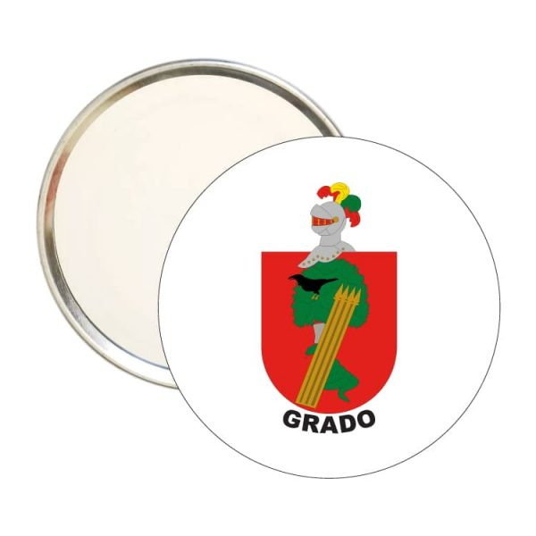 1613 espejo redondo escudo heraldico grado