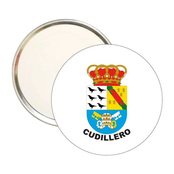 1614 espejo redondo escudo heraldico cudillero