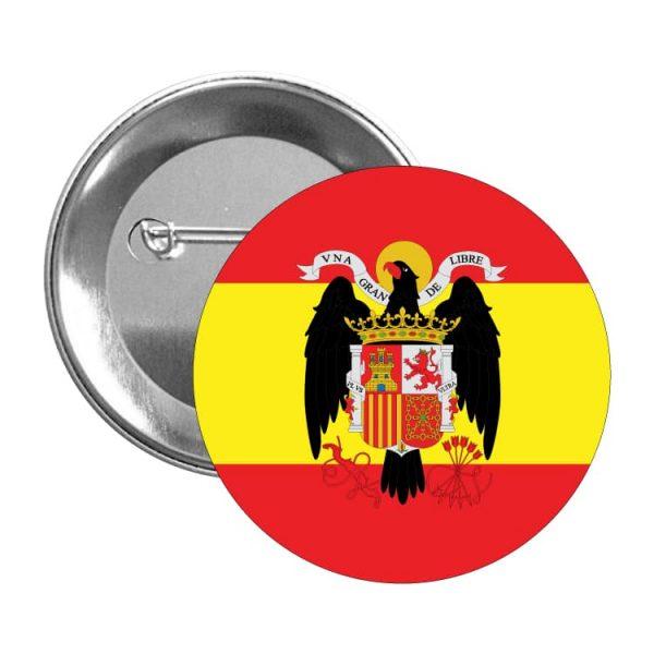 1615 chapa escudo bandera franco