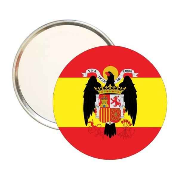 1615 espejo redondo escudo bandera franco