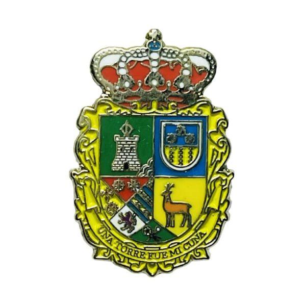 pin escudo heraldico alcaudete de la jara toledo