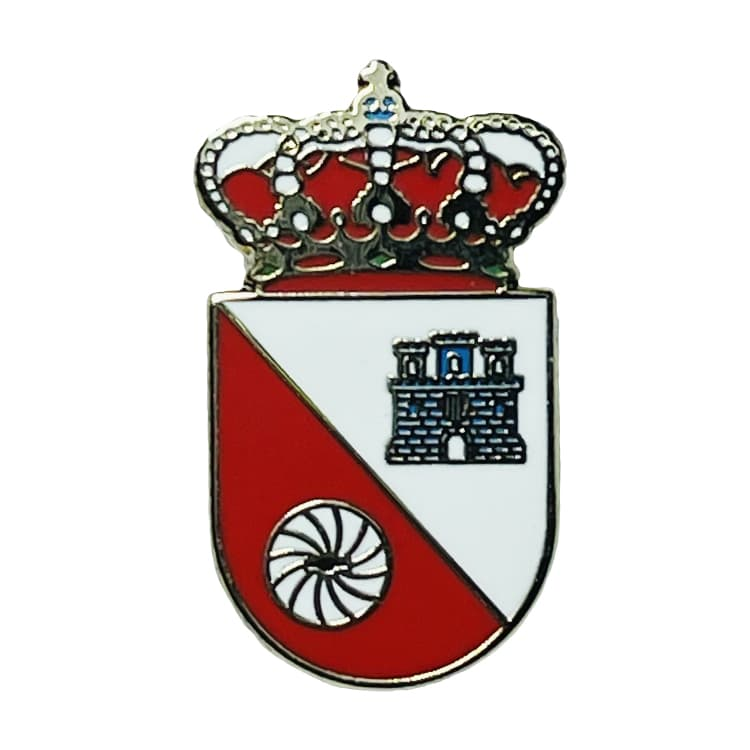 pin escudo heraldico esplus huesca