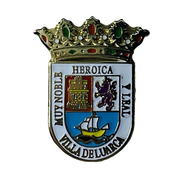 pin escudo heraldico historico villa de luarca asturias