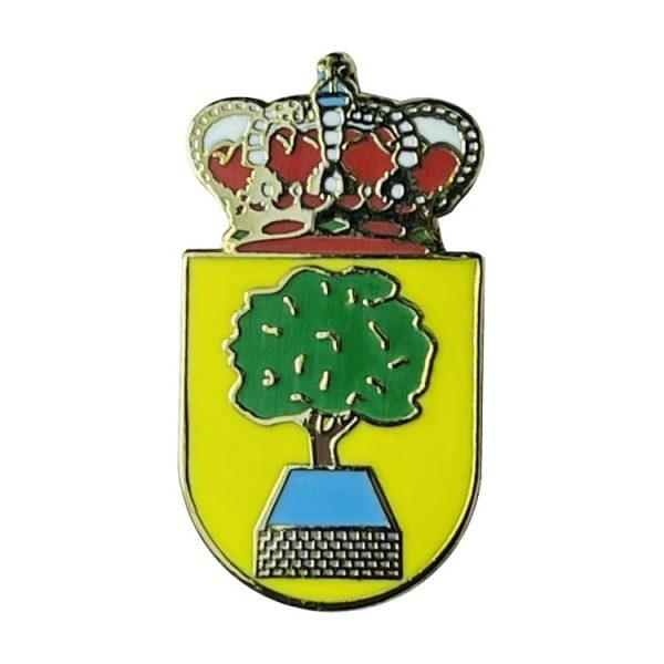 pin escudo heraldico la alberca de zancara cuenca