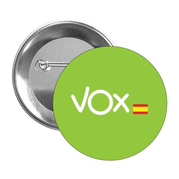 2032 CHAPA VOX BANDERA ESPAÑA VERDE