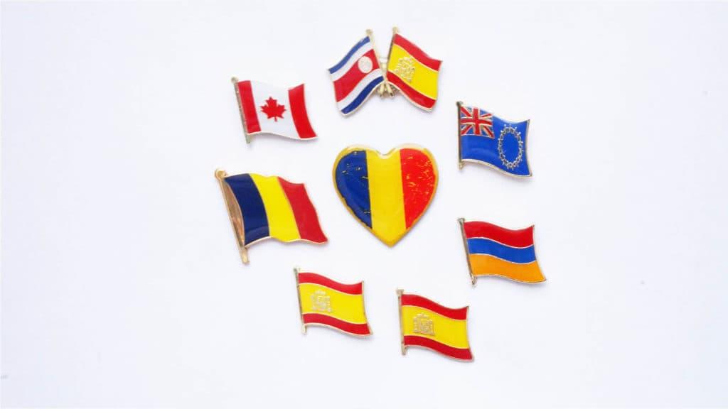pins personalizados banderas